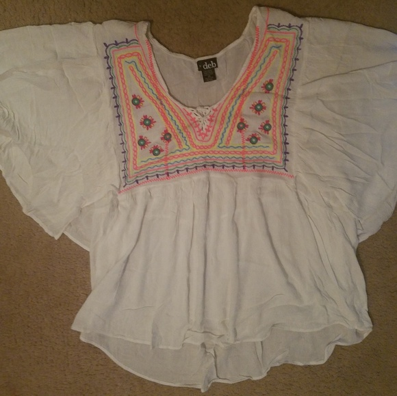 Deb Tops - DEB hippie peasant top. Size 3x